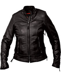 Interstate Leather Women's Jazz Jacket - Plus, Black, hi-res