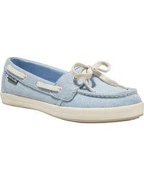 Eastland Women's Light Blue Skip Canvas Boat Shoe, , hi-res