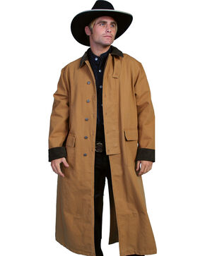Scully Men's Authentic Canvas Duster, Brown, hi-res