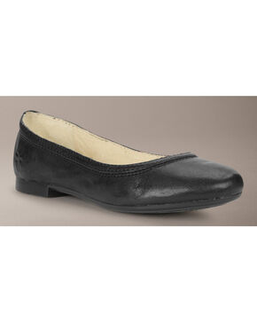 Frye Girls' Carson Ballet Flats, Black, hi-res