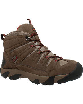 Ad Tec Men's Waterproof Brown Suede Work Hiker Boots - Comp Toe, Brown, hi-res