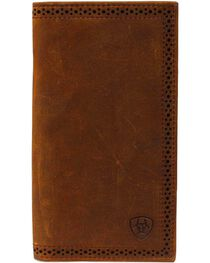 Ariat Perforated Edge Rodeo Wallet, , hi-res