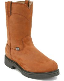 Justin Men's Pull-On Waterproof Work Boots, , hi-res
