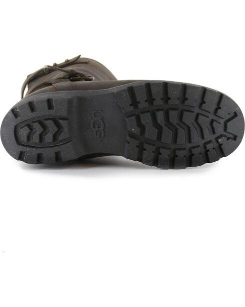 UGG Women's Dark Brown Grandle Casual Boots - Round Toe , Dark Brown, hi-res