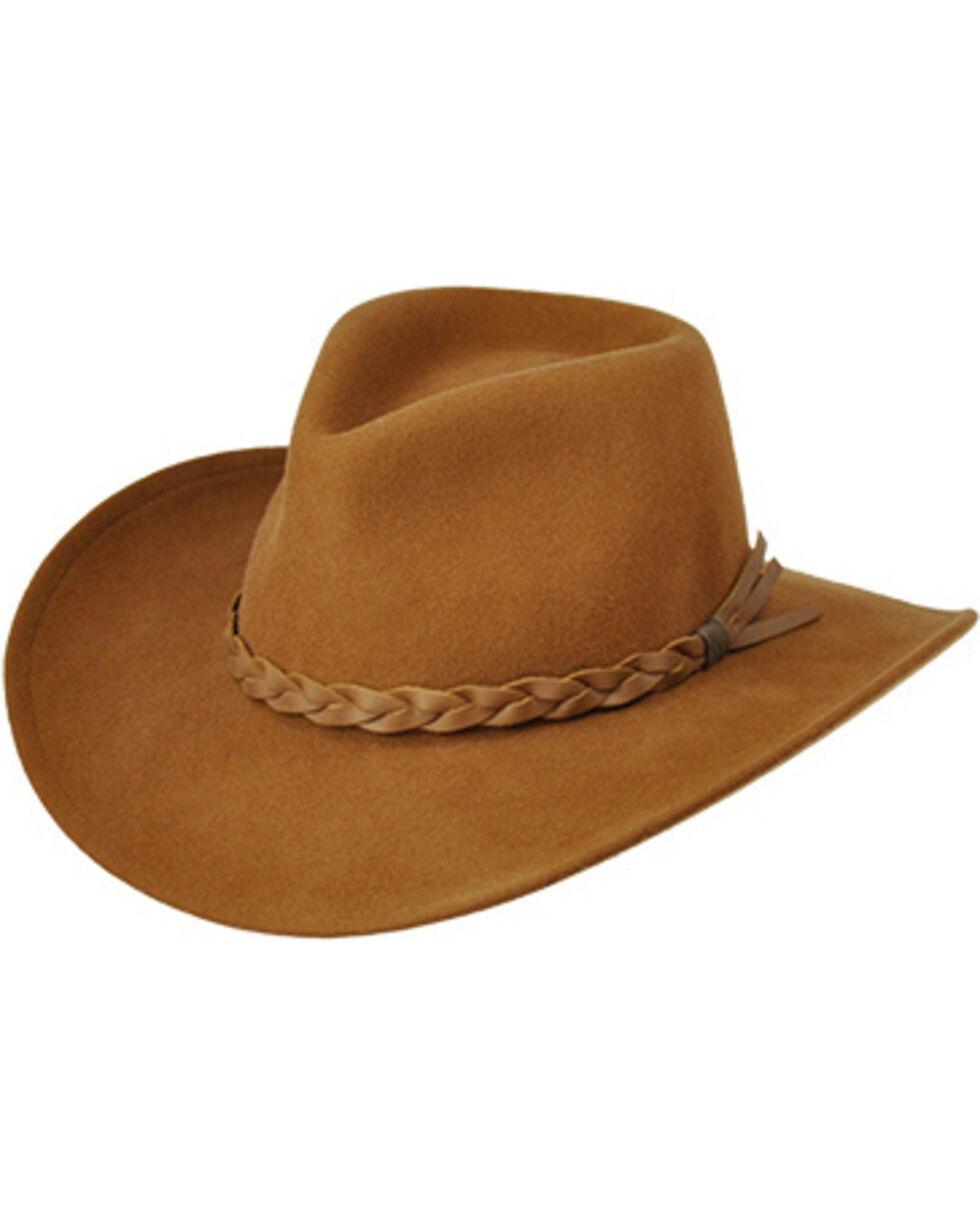 Master Hatters Traveler Men's Brown Wool Hat, Pecan, hi-res