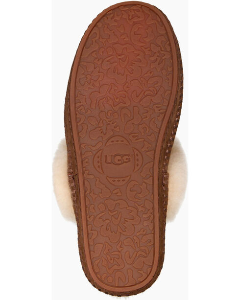 UGG Women's Fur Trimmed Slippers, Chestnut, hi-res