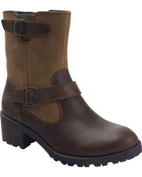 Eastland Women's Bomber Brown Suede Belmont Boots , Brown, hi-res