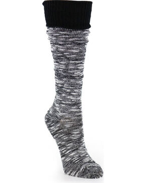 La De Da Women's Slouchy Boyfriend Socks, Black, hi-res