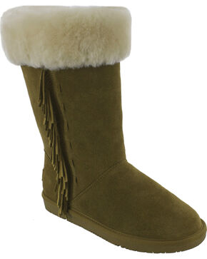 Minnetonka Women's Canyon Boots, Tan, hi-res