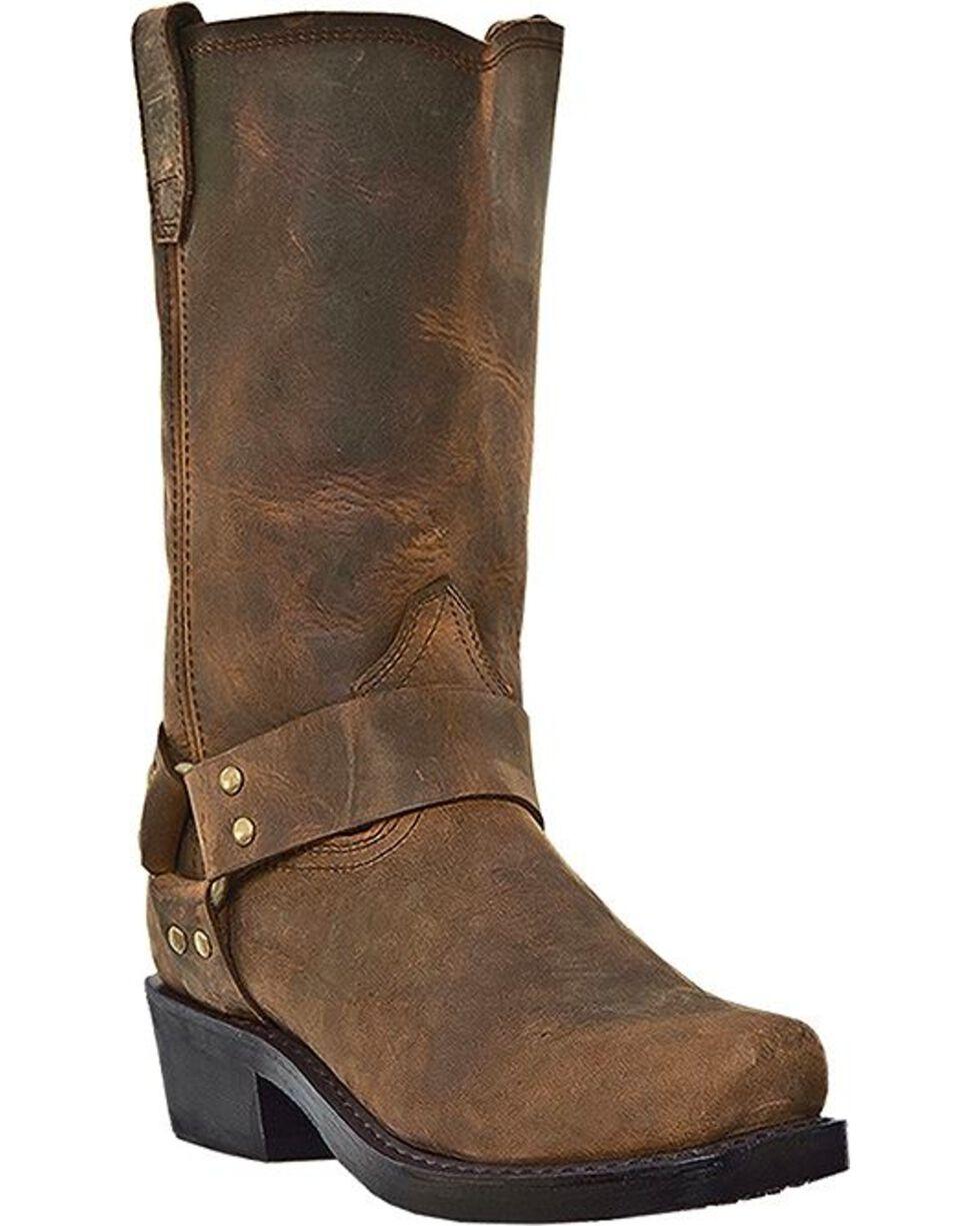 Dingo Men's Dean Harness Mortorcycle Boots, Dark Brown, hi-res