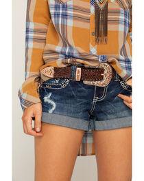 Shyanne® Women's Leather Bling Belt, , hi-res
