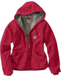 Carhartt Women's Raspberry Sandstone Sierra Jacket , , hi-res