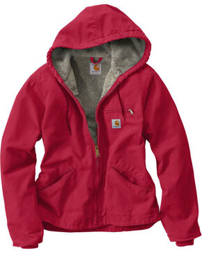 Carhartt Women's Raspberry Sandstone Sierra Jacket , Red, hi-res