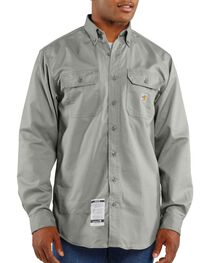 Carhartt Men's Flame-Resistant Twill Work Shirt, , hi-res