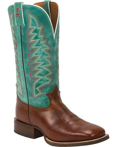 Tony Lama Men's Crockett 3R Western Boots, Cognac, hi-res