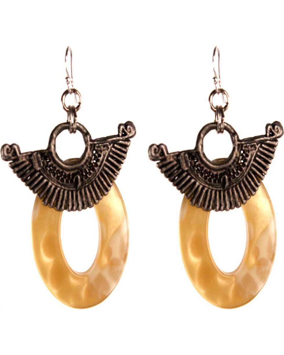 Treska Women's Fan & Ring Drop Earrings, Tan, hi-res