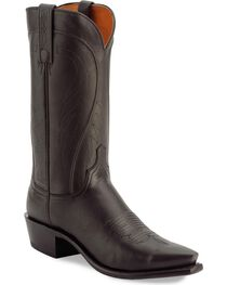 "Lucchese Men's 1883 Pull-On 13"" Western Boots, Black, hi-res"