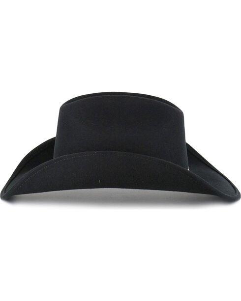 Cody James® Men's Felt Cowboy Hat, Black, hi-res