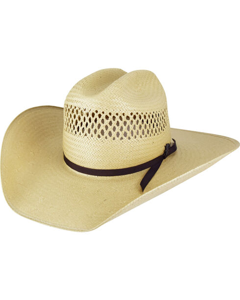 Bailey Men's Rustler Cattleman 7X Straw Western Hat, , hi-res