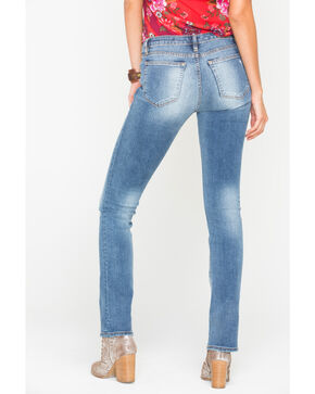 Miss Me Women's Indigo So Torn Slim Jeans - Boot Cut , Indigo, hi-res