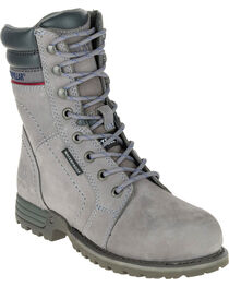 CAT Women's Echo Waterproof Steel Toe Work Boots, , hi-res