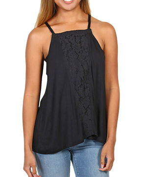 Eyeshadow Women's Lace Tank, Black, hi-res