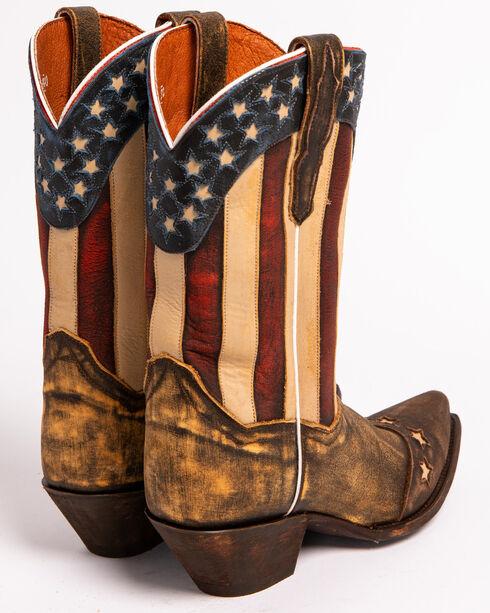 """Dan Post Women's 11"""" Liberty Stars & Stripes Boots, Brown, hi-res"""