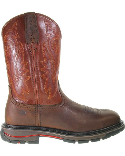 Wolverine Men's Javelina Steel Toe Work Boots, Dark Brown, hi-res