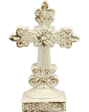 BB Ranch Ornate Ceramic Cross, No Color, hi-res