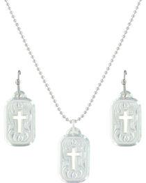 Montana Silversmiths Women's Mini Tokens Of Faith Cross Jewelry Set , , hi-res