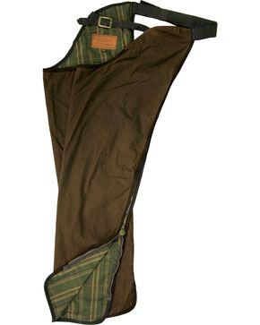 Outback Unisex Oilskin Chaps, Bronze, hi-res
