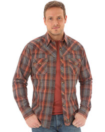 Wrangler Retro Men's Plaid Scroll Long Sleeve Shirt, , hi-res