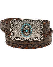 Ariat Women's Lace Stitch Belt , , hi-res