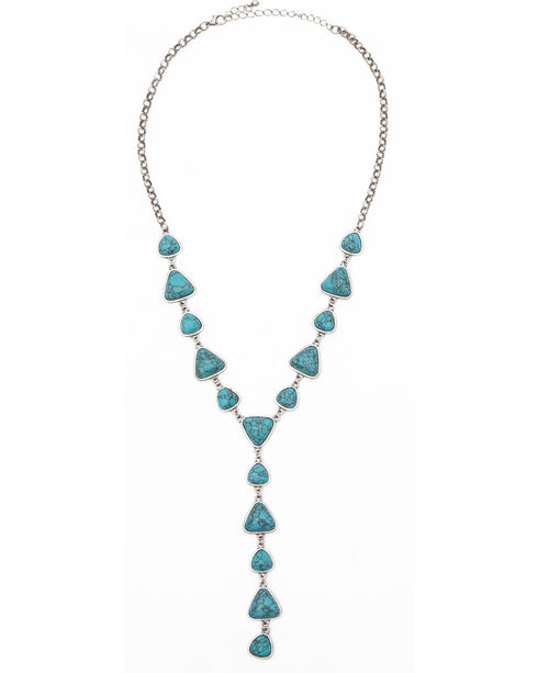 Shyanne® Women's Marbled Stone Y-Necklace, Turquoise, hi-res