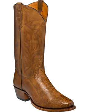 Tony Lama Men's Killeen Ostrich Exotic  Boots, Suntan, hi-res