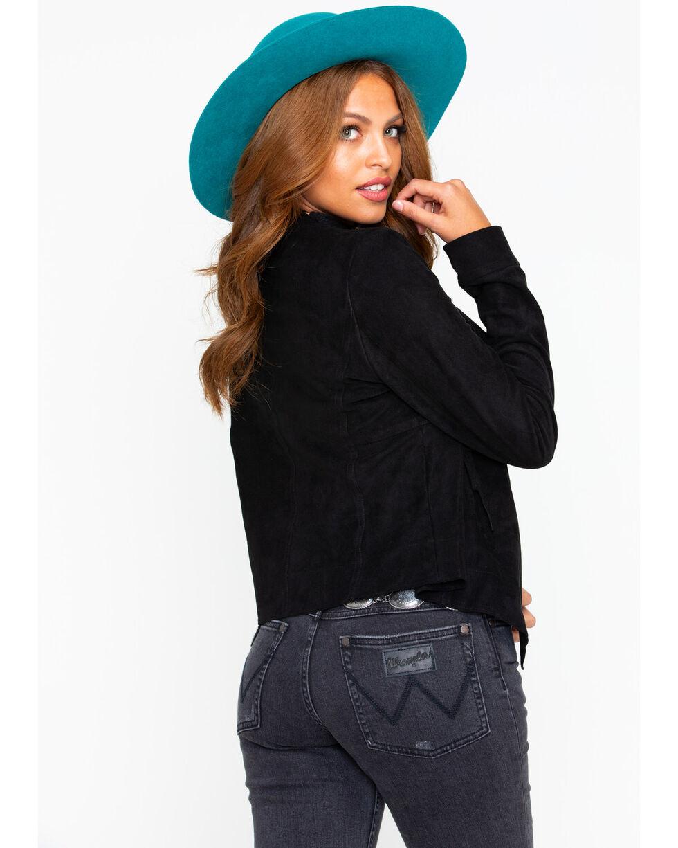 Miss Me Women's Faux Suede Jacket, Black, hi-res