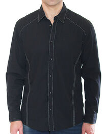 Austin Season Men's Long Sleeve Contrast Stitching Button Down Shirt, , hi-res