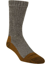 Carhartt Black Copper Technology Work Crew Socks, Black, hi-res