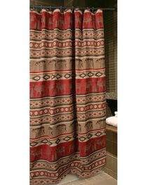 Carstens Adirondack Shower Curtain, Red, hi-res