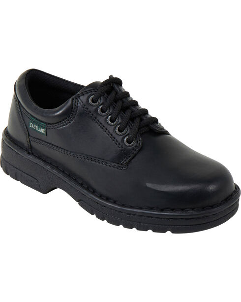 Eastland Women's Black Plainview Oxfords , Black, hi-res