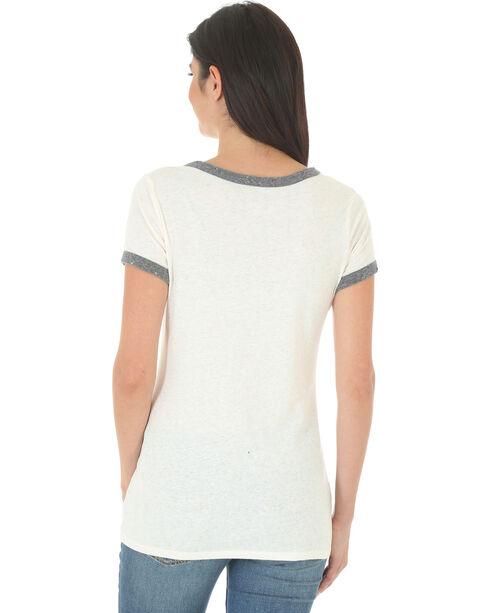 Wrangler Women's White and Grey Ringer T-Shirt , White, hi-res