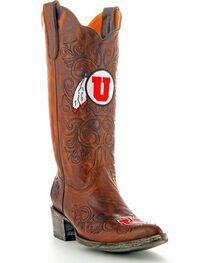 Gameday University of Utah Cowgirl Boots - Pointed Toe, , hi-res