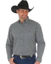 Wrangler 20X Men's Green/Black Advanced Comfort Competition Shirt, , hi-res