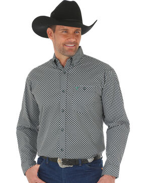 Wrangler 20X Men's Green/Black Advanced Comfort Competition Shirt, Green, hi-res