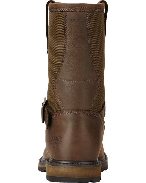 Ariat Men's Waterproof Steel Toe Groundbreaker Work Boots, Dark Brown, hi-res