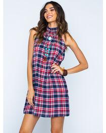 Given Kale Women's Plaid High Neck Dress , , hi-res