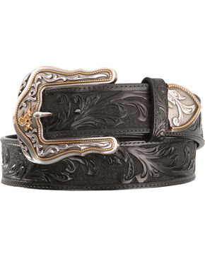 Tony Lama Men's Westerly Ride Belt, Black, hi-res