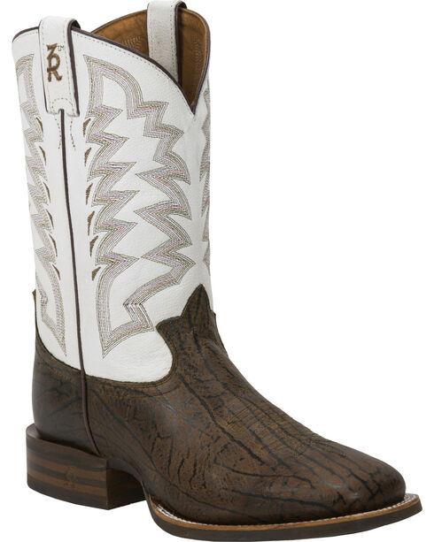 Tony Lama Men's Stockman  Boot, Brown, hi-res