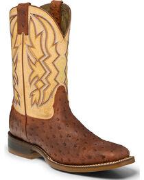 """Nocona Men's 11"""" Ostrich print Western Boots, , hi-res"""