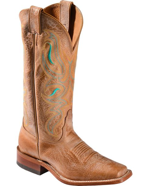 Nocona Women's Honey Square Toe Western Boots, Honey, hi-res